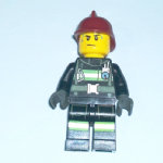 Lego  City 2013 fireman sweating minifigure vgc